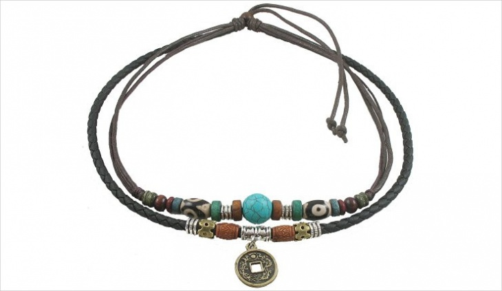 adjustable leather necklace