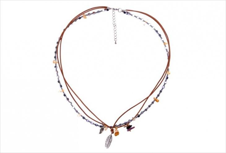 handmade leather necklace idea