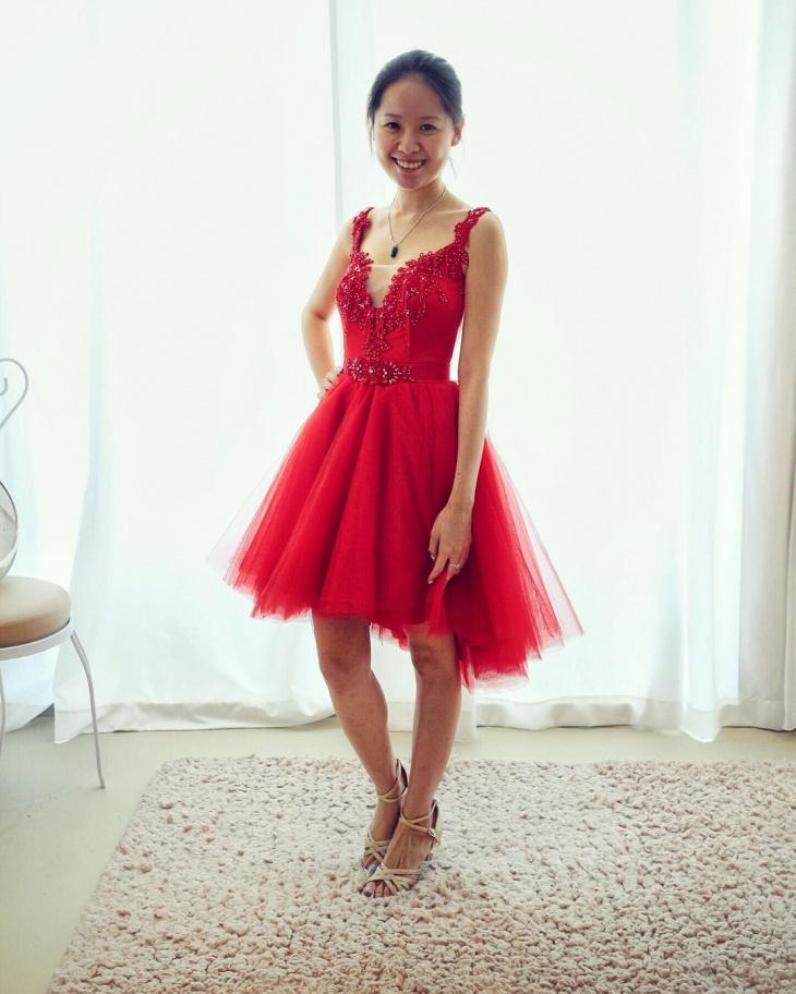 tulle belt dress design