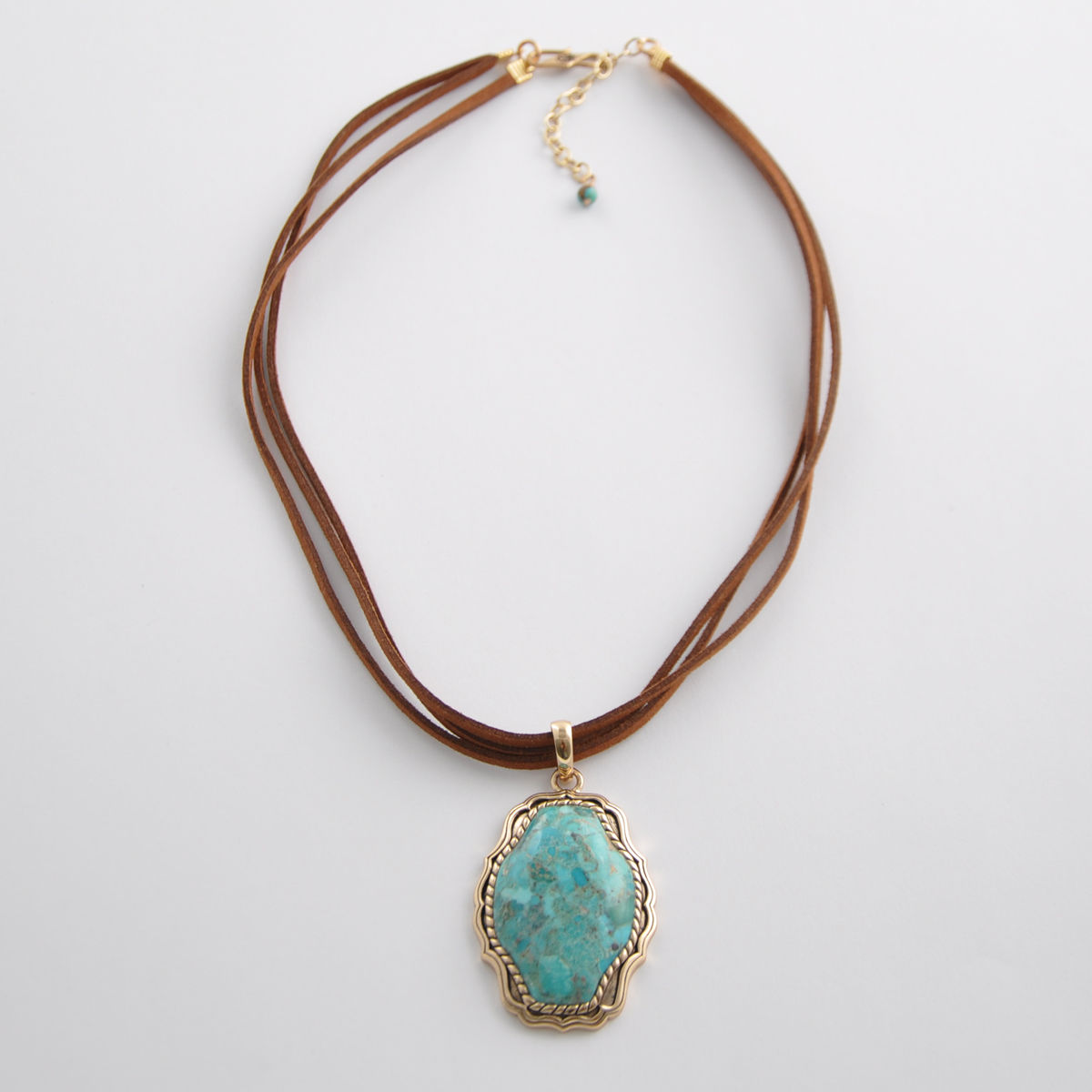 classy leather necklace design