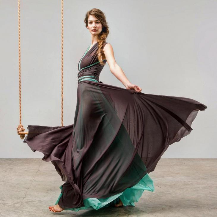 tulle maxi dress design