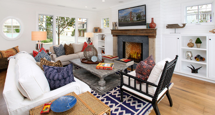 Out Dated Eclectic Living Room