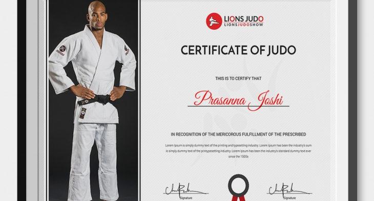 5 Judo Certificates Psd Word Designs Design Trends Premium