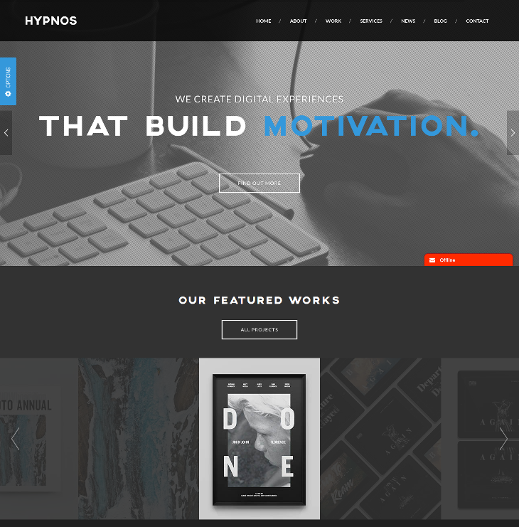 One Page Parallax WordPress Theme