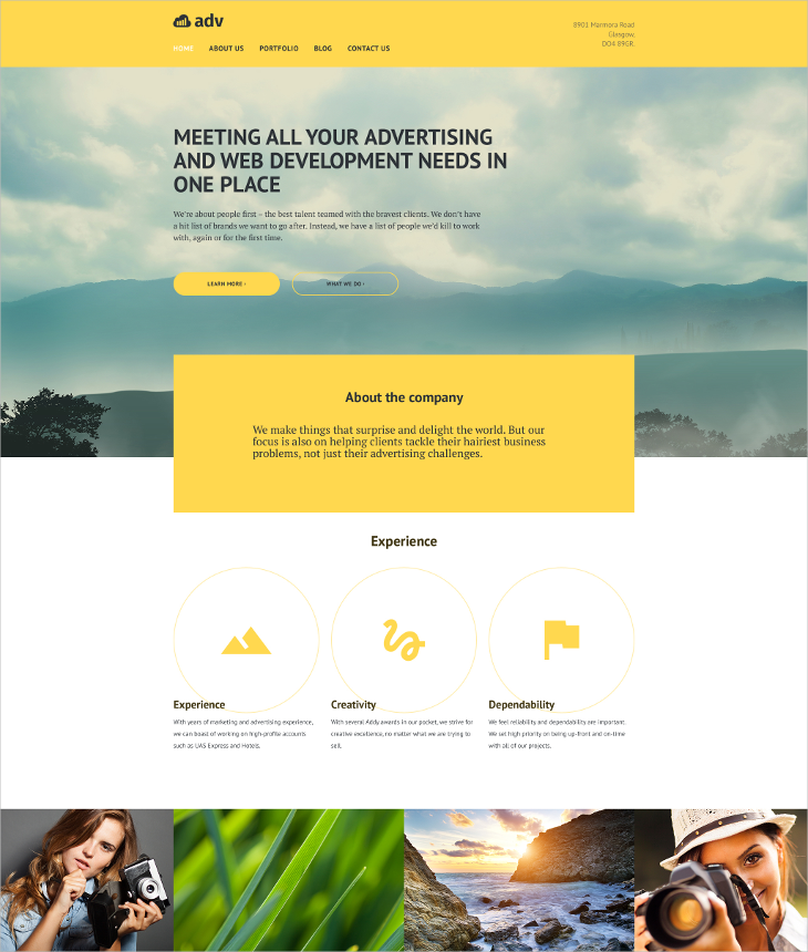 Advertising Parallax WP Theme