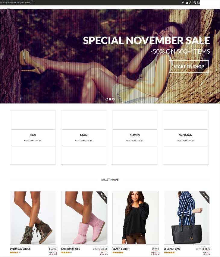 Parallax e-commerce Theme