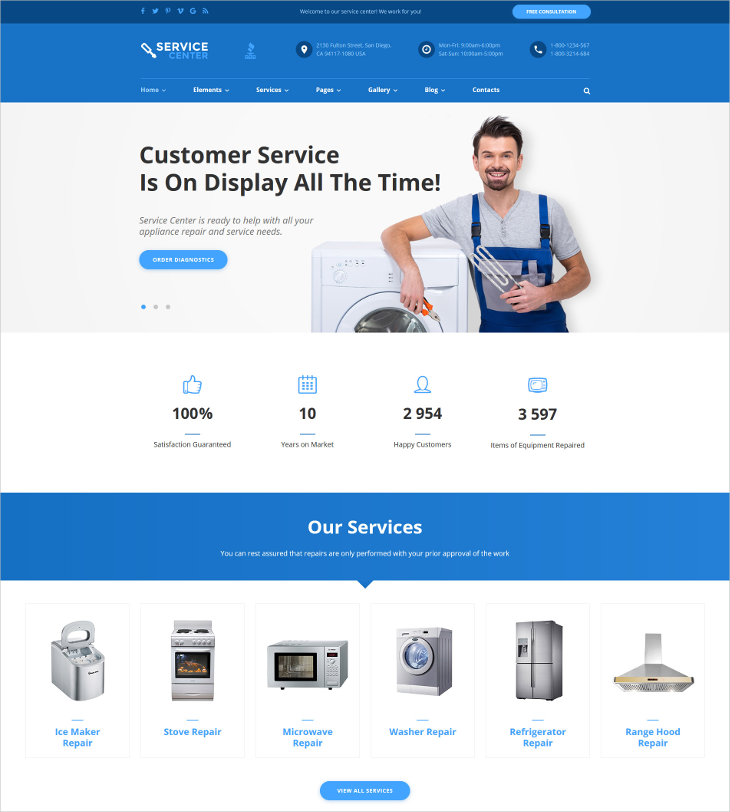 Home Repairs Parallax WordPress Theme