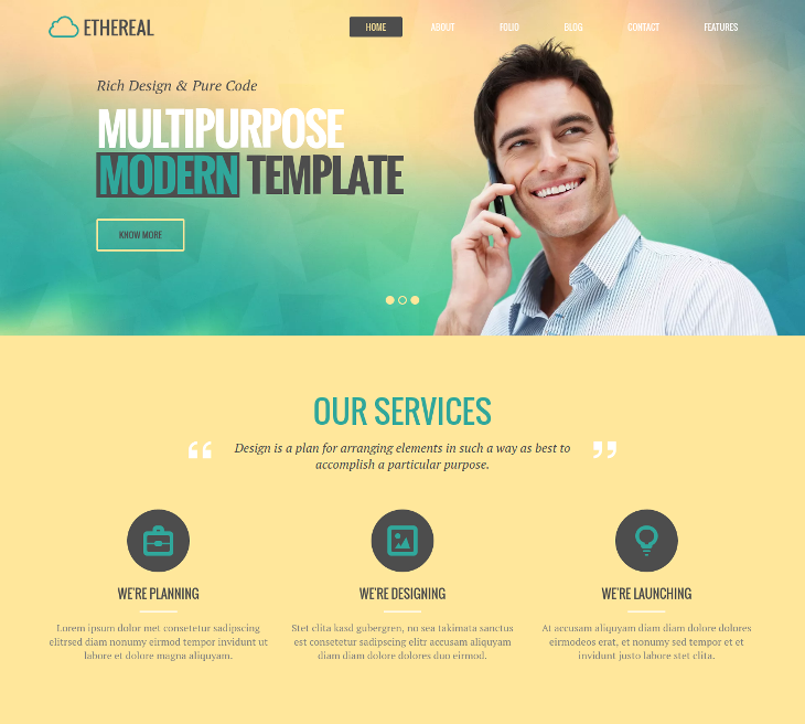 Multipurpose WordPress Parallax Theme