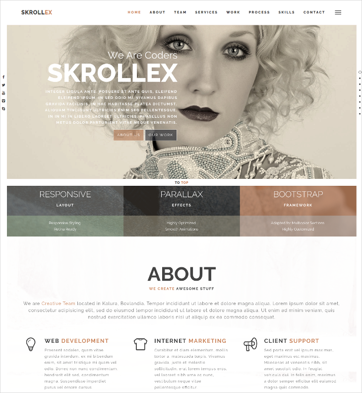 Parallax Scrolling WordPress Theme