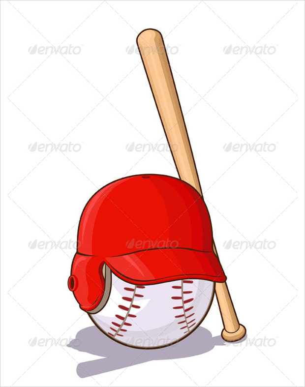 cartoon baseball bat vector