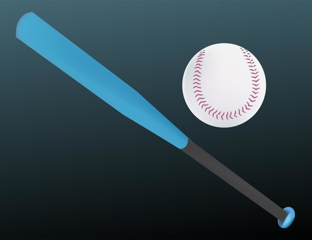 realistic baseball bat vector
