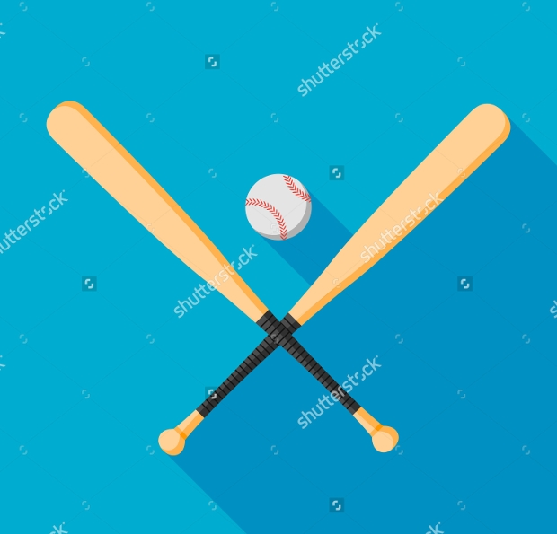 colorful baseball bat vector