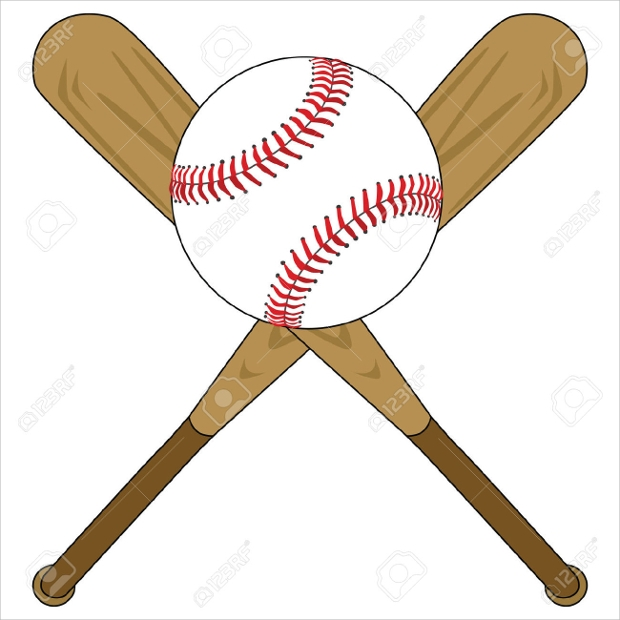 wooden baseball bat vector illustration