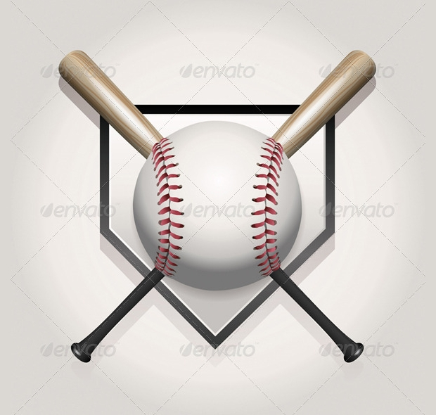 high quality baseball bat vector