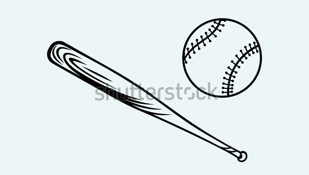 vector illustrated cartoon baseball bat