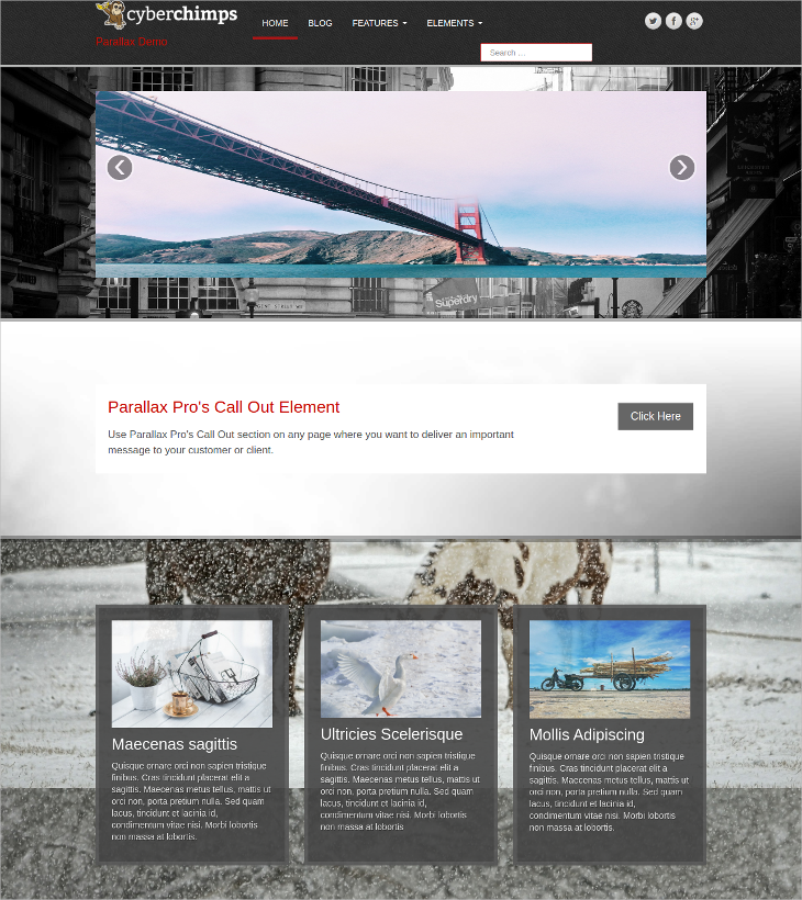 Best Parallax WordPress Theme