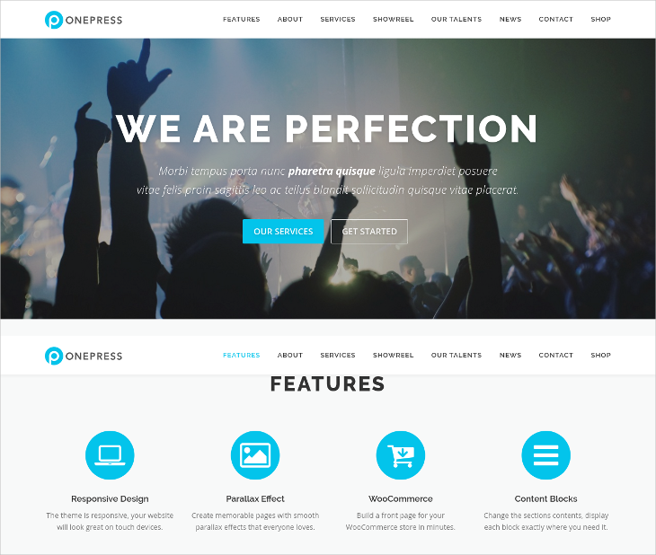 Parallax WordPress Theme for Creative Agencies