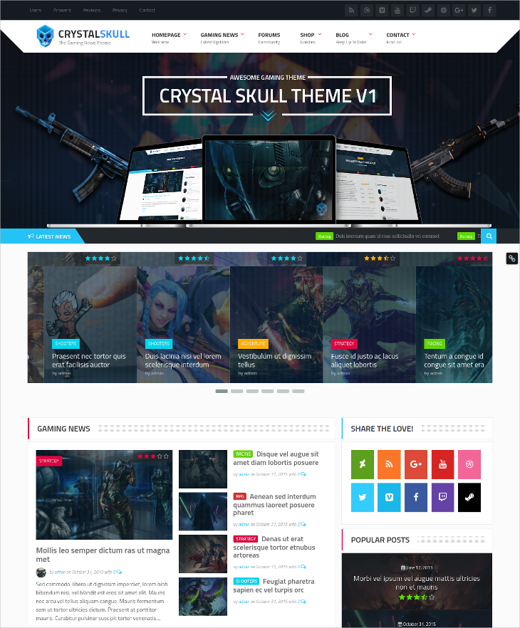 gaming magazine wordpress theme