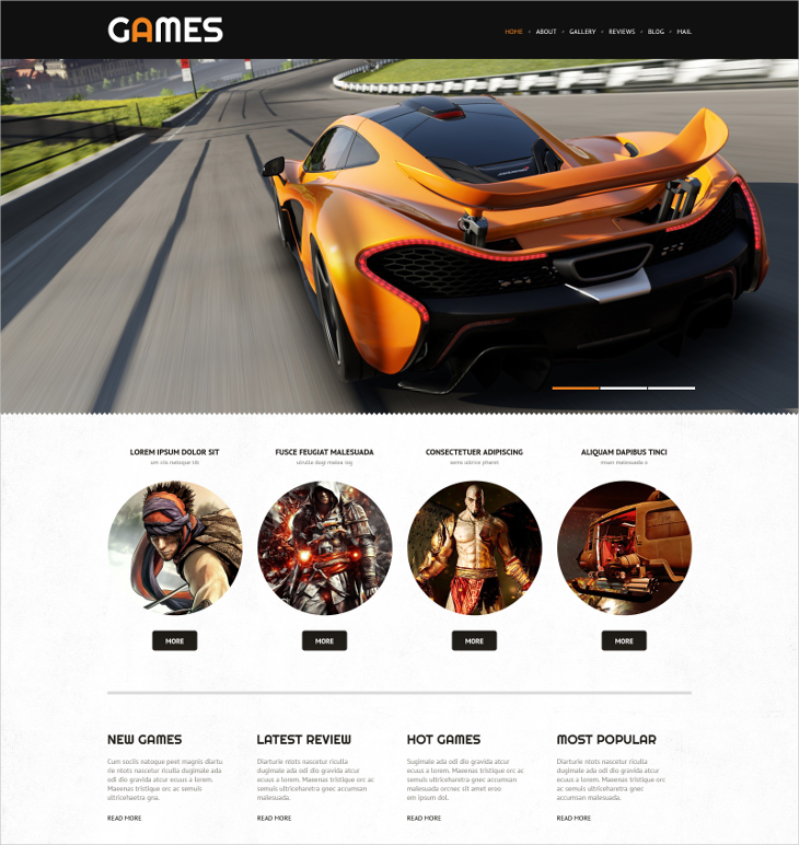 responsive gaming wordpress theme