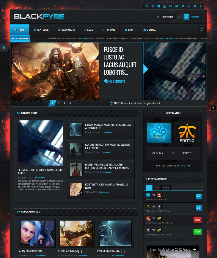 gaming community wordpress theme