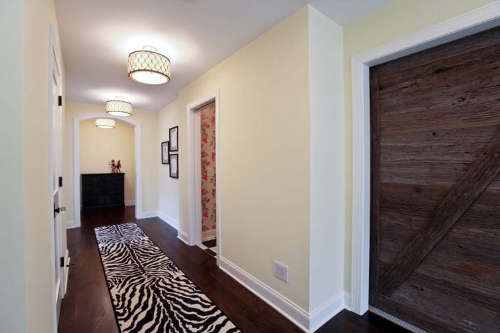 hallway drum ceiling light idea