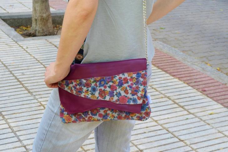 Leather Floral Handbag
