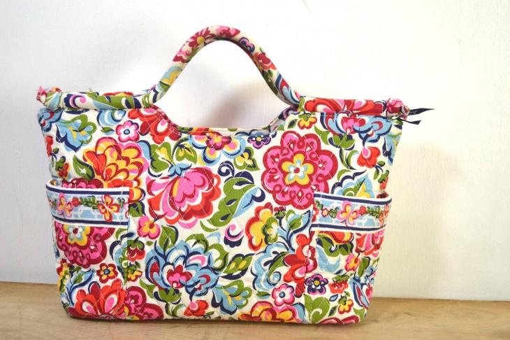 fabric floral handbag