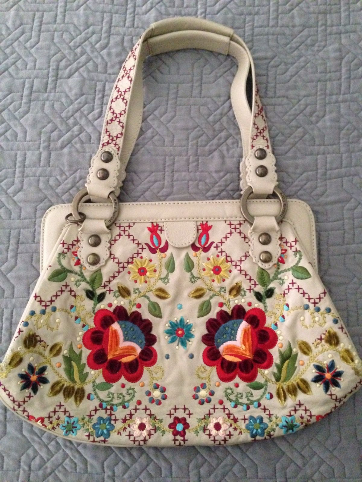 Floral Embroidered Handbag