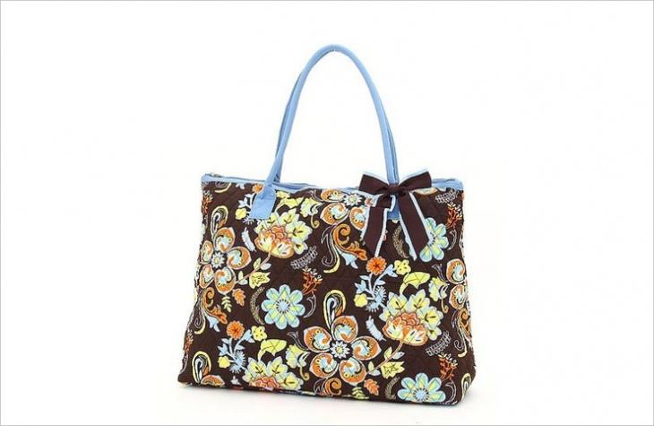 floral quilted handbag