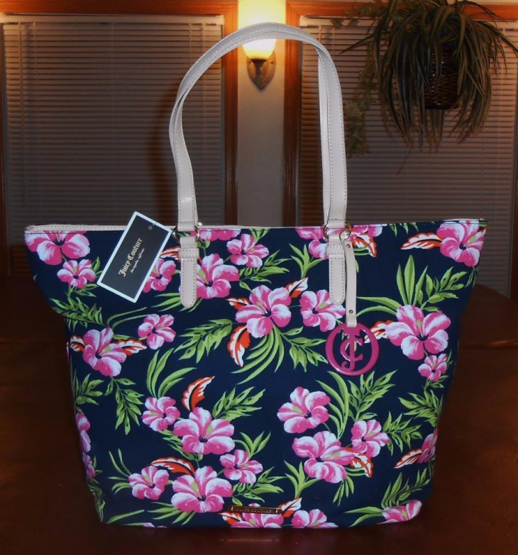 floral tote bag design
