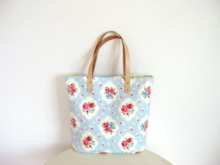 simple floral handbag