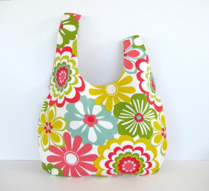 colorful floral handbag idea