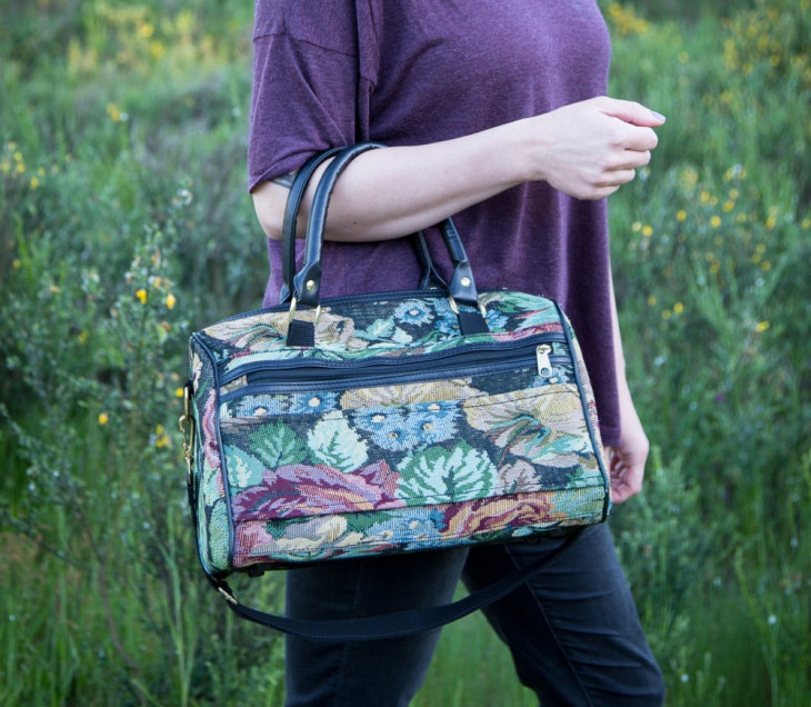 retro floral handbag1