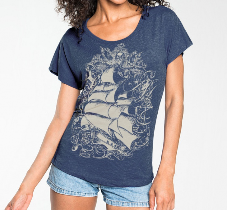Pirate Ship T Shirt Design
