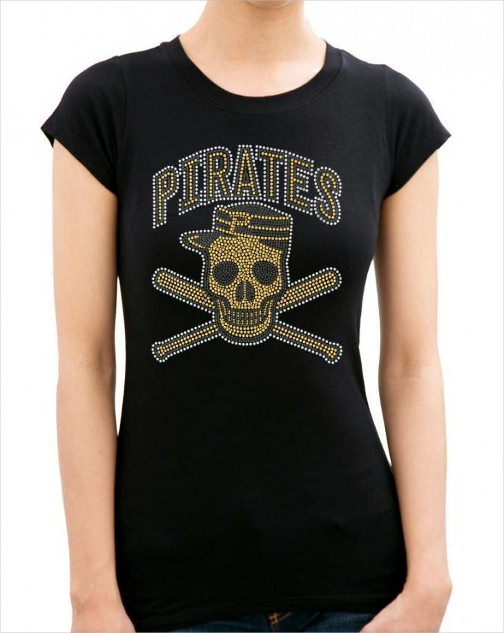 rhinestone pirate t shirt