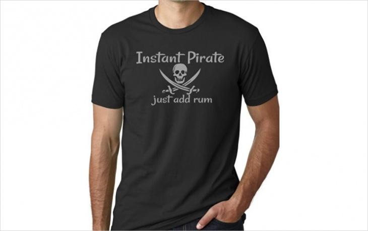 black pirate t shirt