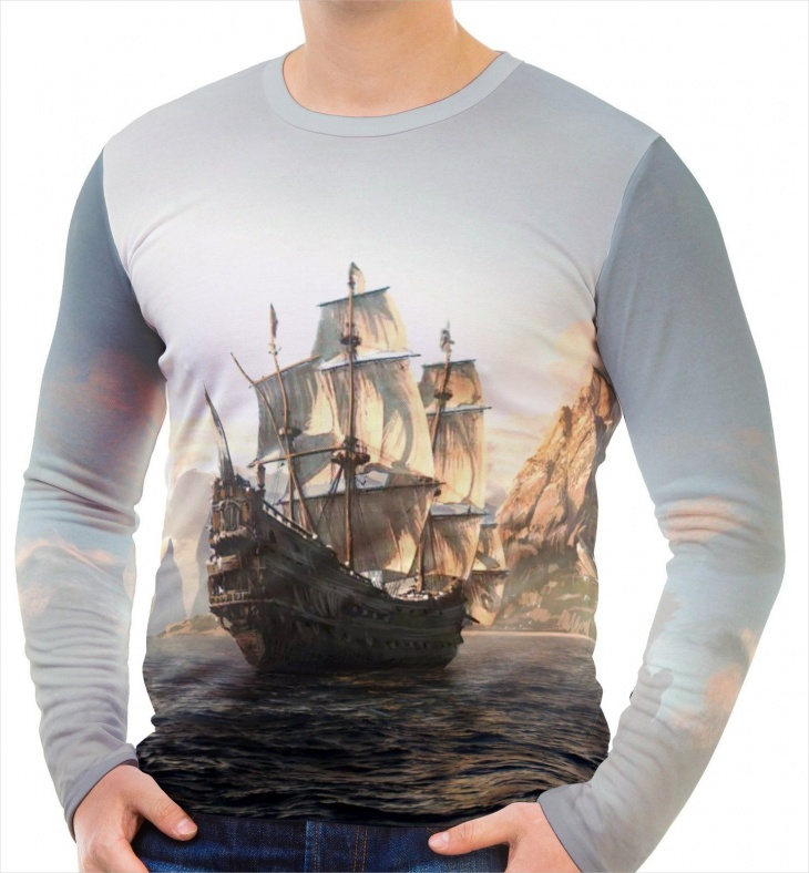 long sleeve pirate t shirt