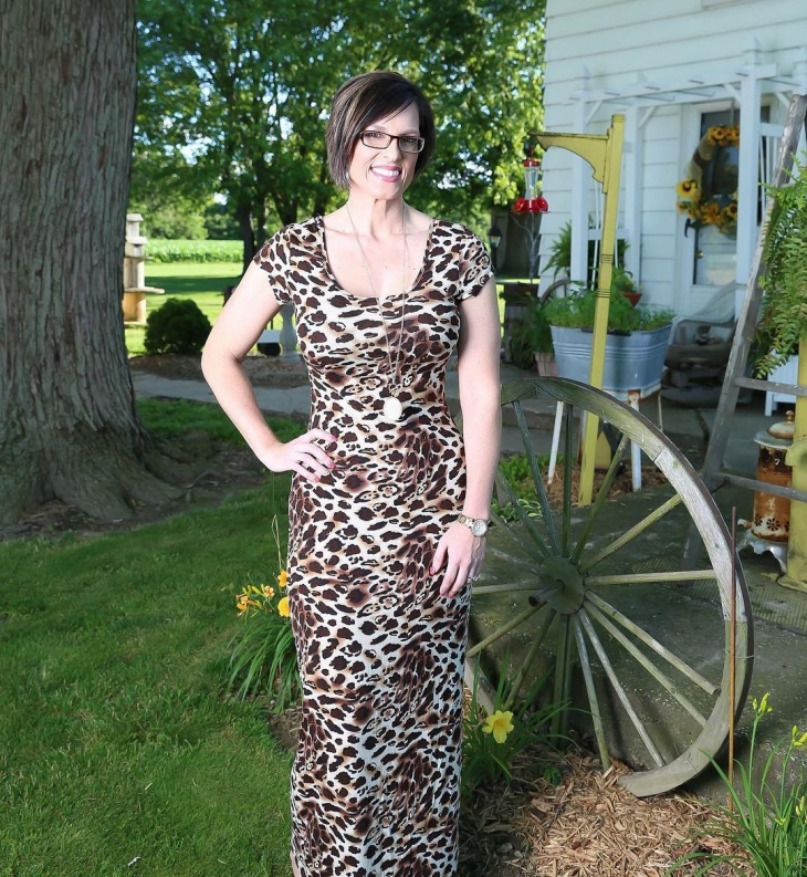 formal animal print dress