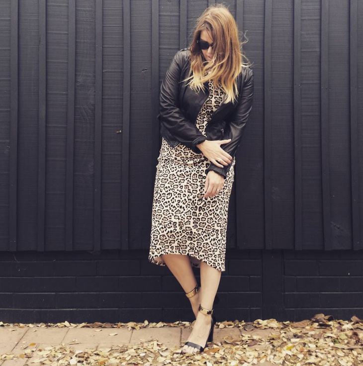 casual animal print dress
