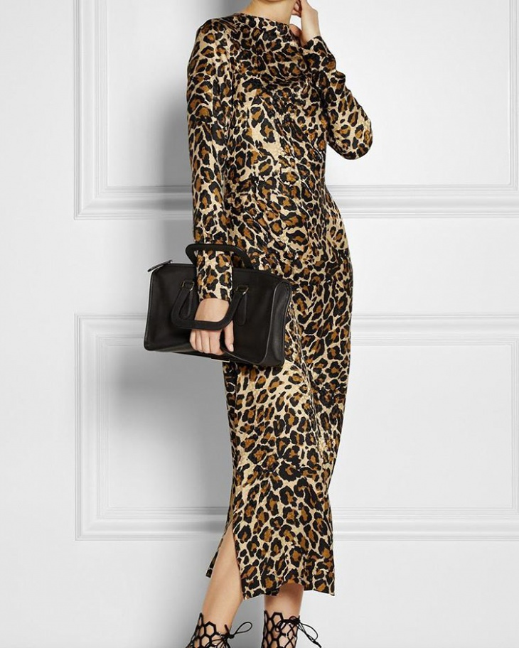 trendy animal print dress