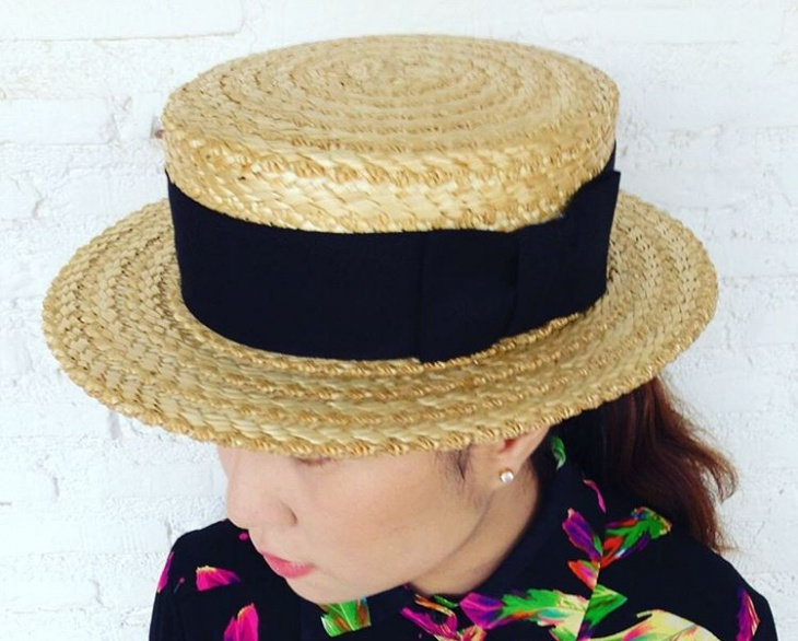 woven gambler hat