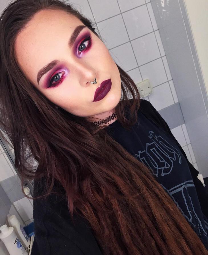 vampy grunge makeup design