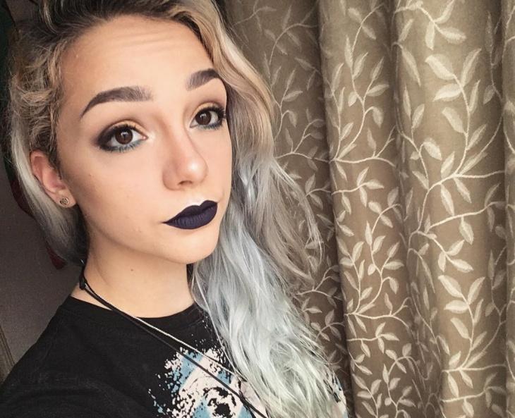 grunge black lips makeover