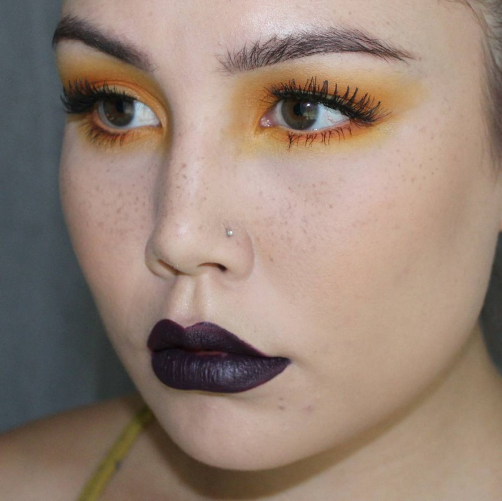 Grunge Eye and Lips Makeover