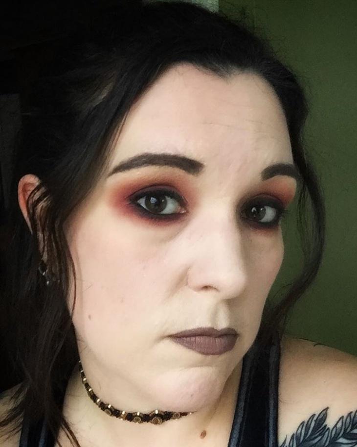 vintage grunge makeup idea