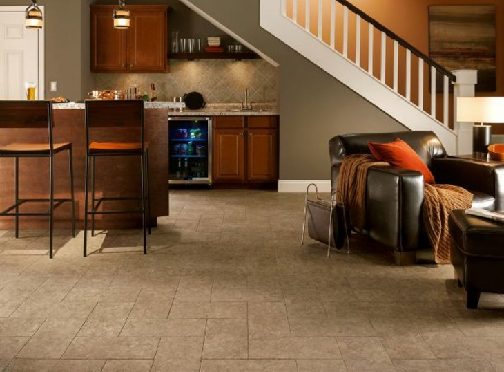 basement vinyl flooring idea