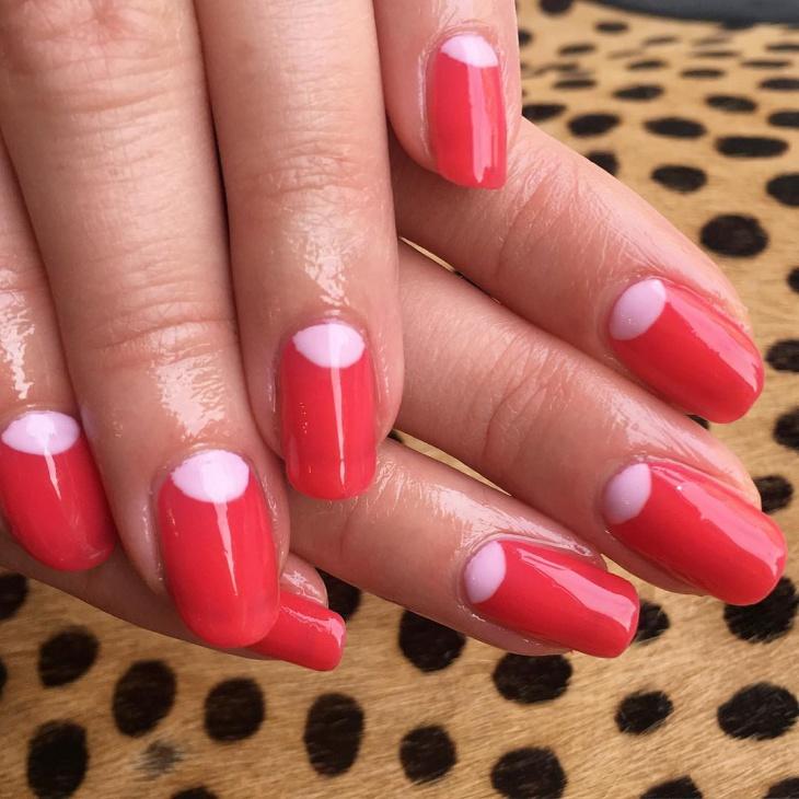half moon gel nails