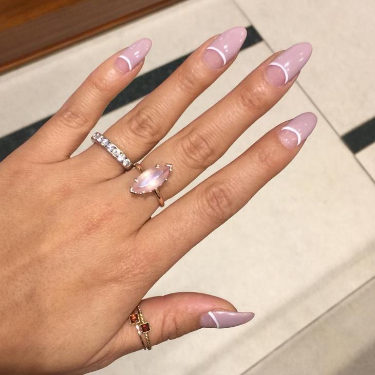 vintage half moon nails