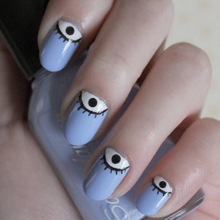 half moon eye nail art idea