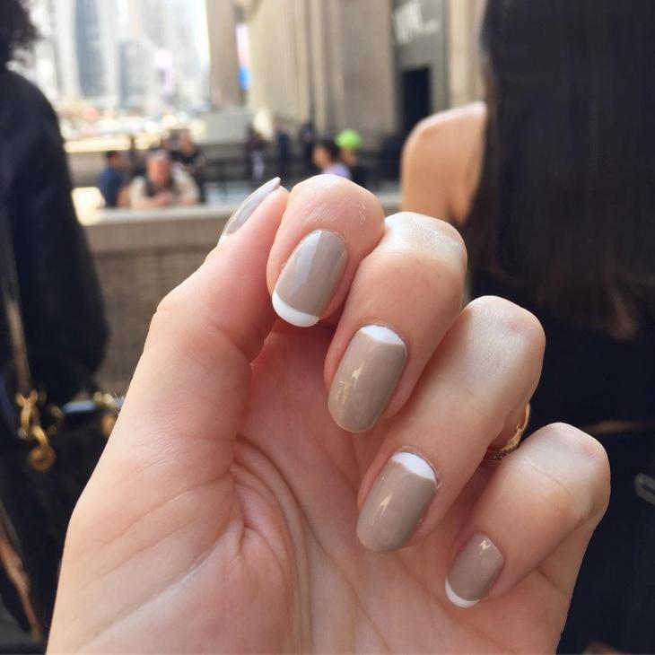 classy half moon nail art